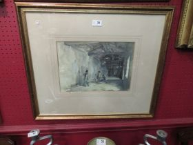 A William Russell Flint 'The Court of the Hundred Vanities' limited edition pencil signed print,