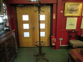 A Fischel bentwood coat and stick stand,
