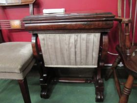 A circa 1840 rosewood games/work table,