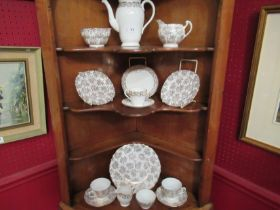 A selection of white ground and gilt teawares including Royal Adderley and Royal Vale