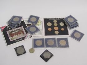 A quantity of collector's coins including Charles & Diana and 1983 set etc