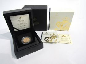 A 2019 East India Company Victoria gold proof sovereign, limited edition of 1819,