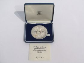 A Royal Mint College of Arms Quincentenary silver medal with Richard III obverse,