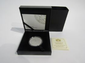 A 2018 1oz silver proof Krugerrand, South African Mint, cased and boxed, limited edition of 15,