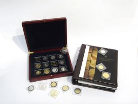 The Millionaires Collection coinage set of silver and silver gilt coins together with documentation