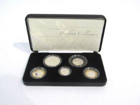 A Royal Mint UK 2007 Piedfort collection coin set,