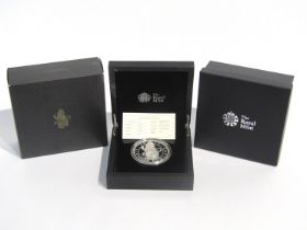 """A 2017 """"Lion of England"""" The Queen's Beasts silver proof five ounce £10 coin, Royal Mint,"""