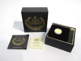 A 2020 Australian sovereign, gold proof, The Perth Mint,