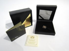 A 2017 50th Anniversary Krugerrand coin, South African Mint, cased and boxed, limited edition of 2,