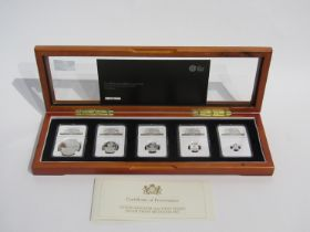 A United Kingdom 2015 first strike silver proof Britannia set, cased with certificate,