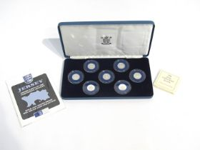 A Jersey Shipbuilding series silver proof £1 collection of seven coins,