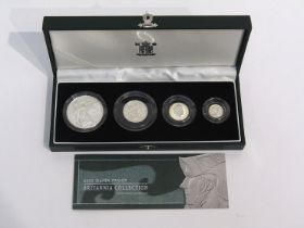 A Royal Mint 2003 silver proof Britannia Collection of four coins,