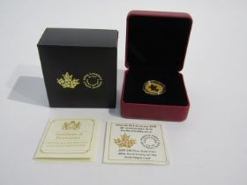 A 2019 $10 pure gold coin 40th Anniversary of the Gold Maple Leaf, Royal Collection Mint,