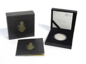 """A Royal Mint UK silver proof """"The Queen's Beasts The Unicorn of Scotland"""" 2017 one ounce silver"""