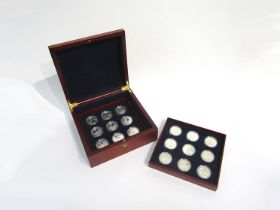 A collection of 18 History of The Royal Navy silver proof 2003 five pound coins,