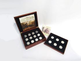 """A cased Royal Mint """"The Victoria Cross"""" £5 silver proof 18 coin set with documentation"""