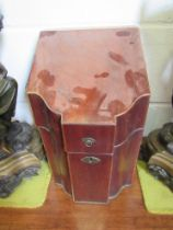 A Georgian mahogany knife box for restoration