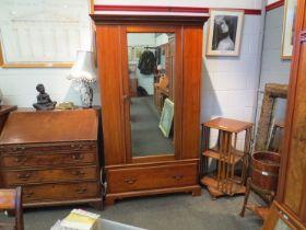 A late Victorian mahogany wardrobe,