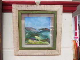 JENINE REEVES: Watercolour of a Tuscany scene,