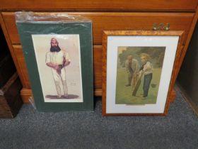 Four various cricketing prints,