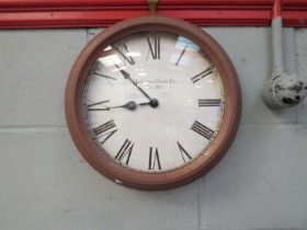 A painted metal Madison Clock Co.