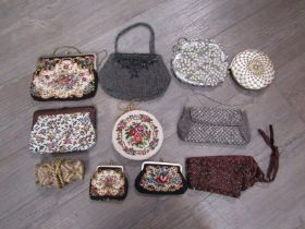 A quantity of assorted beaded tapestry and sequined evening bags