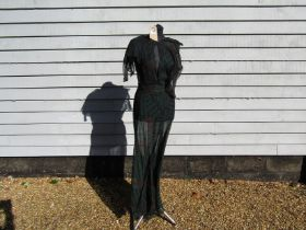 OSSIE CLARK: Original early 1970's silk chiffon wrap around dress/negligee