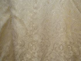Two pairs of country house style curtains together with one single curtain,