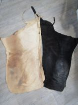 Two pairs of original suede Texan ladies chaps in black and natural