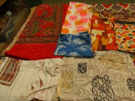 A selection of early 20th Century through to the 1970's large scale print fabrics
