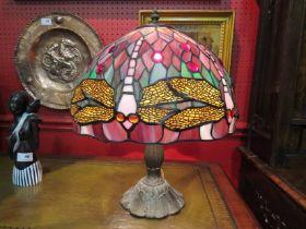 A Tiffany style dragonfly lamp