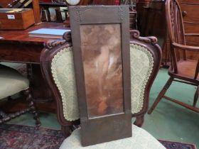 "A Continental Arts & Crafts metal framed print ""Eve"","