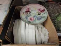 A selection of collectors plates including Royal Worcester floral designs,