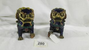 A quality pair of Chinese Foo Dogs, 20th Century Export,