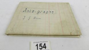 An autograph with 1946/47 cricket related signatures including Hammond, Woolley,