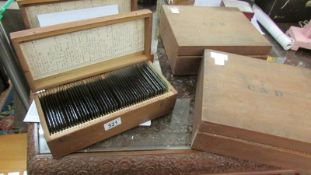 Glass negatives taken 1904-1909 - Five wooden boxes containing c. 334 glass plates.