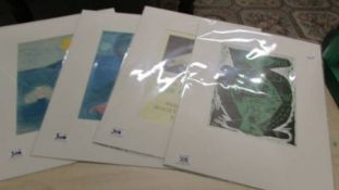 Collection of 4 lithographic prints 2 x Marc Chagall (1887-1985) both modernist figural subjects