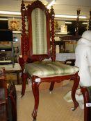 A good mahogany hall chair.