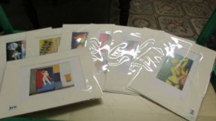 Collection of 8 pop art prints circa 1990s artist's include Martial Raysse, Robert Lindner,