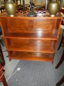 A mahogany 3 shelf book case. ****Condition report**** In good clean condition.