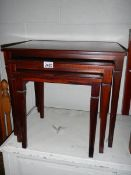A mahogany nest of tables. ****Condition report**** Overall good condition.