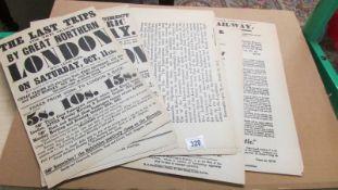 Portfolio of 23 railway posters/notices published circa 1960s
