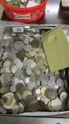 Approximately 5 kilos of mixed UK and foreign coins.