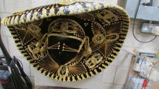 A Mexican sombrero.