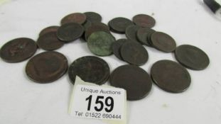 4 cartwheel pennies and 22 other coins.