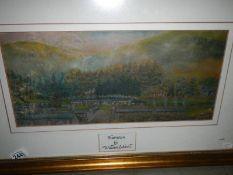 A framed and glazed watercolour entitled 'Blaencwm' by William Gidwell.