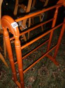 A pine towel rail. ****Condition report**** In good clean condition. Height 86cm.