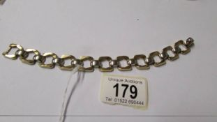 A 9ct white and yellow gold bracelet, 20 grams.