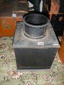 A cast iron floor safe.