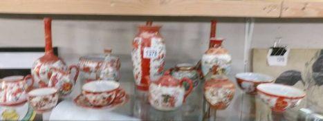 A mixed lot of Chinese Kutani china, (1 a/f).